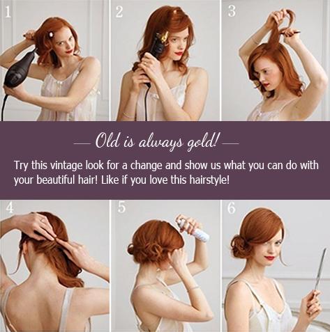 Vintage Look Hairstyle